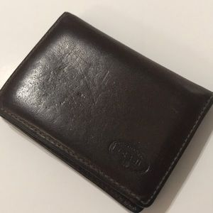 FOSSIL MENS BIFOLD LEATHER WALLET BROWN